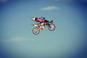 Stunt a freestyle motocross show